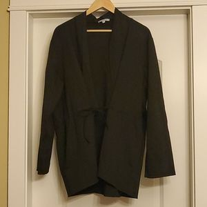 Minna - Midnight Black Lace Up Jacket 1X